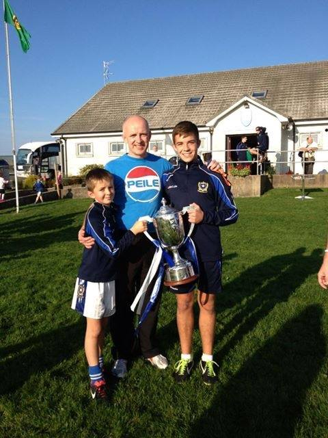 Congratulations to St. Enda's man Carl McCabe on steering St. Gall's to victory in Antrim final. Well done Carl.
